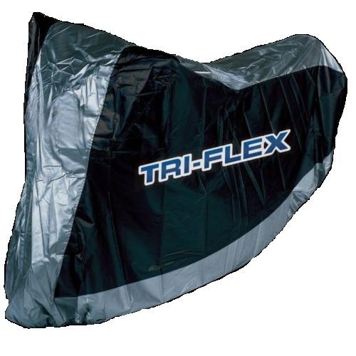 triflex licht motorrad abdeckung wasserfestes wasser deckel schwarz silber xl ebay. Black Bedroom Furniture Sets. Home Design Ideas