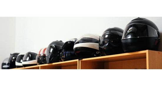 Motorcycle Helmet Storage