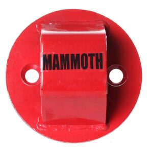 Mammoth Junior Motorcycle Ground Anchor Red GRD005