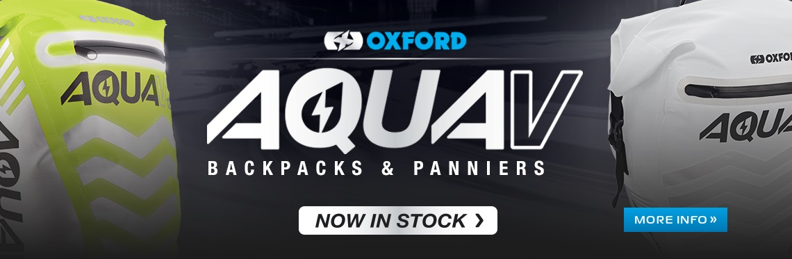 Oxford Aqua Motorcycle Luggage Web Banner
