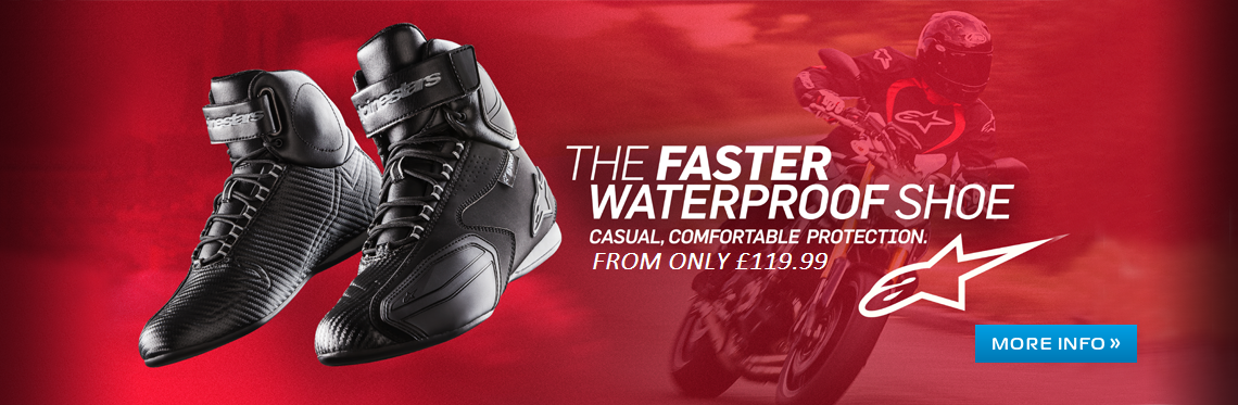 Alpinestars Faster Motorcycle Boots Web Banner