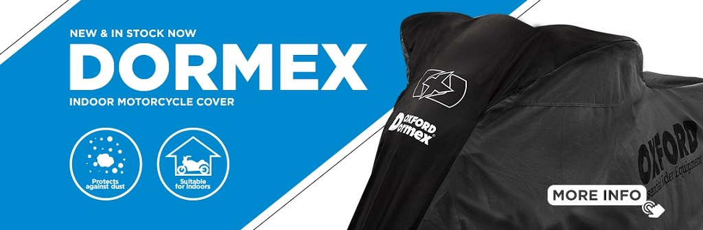 Oxford Dormex Indoor Motorcycle Cover Web Banner