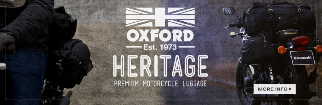 Oxford Heritage Motorcycle Luggage Web Banner