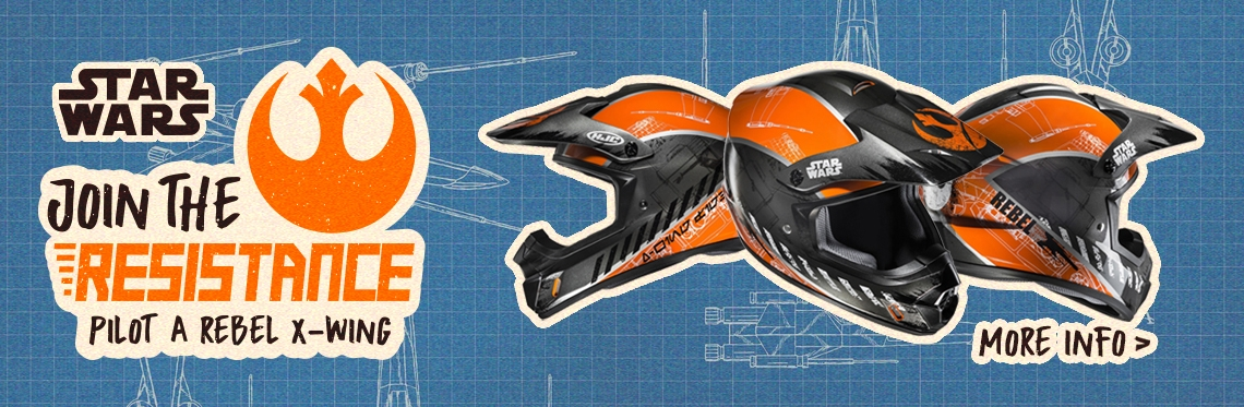 HJC CS-MX II Rebel X-Wing Motocross Helmet Banner