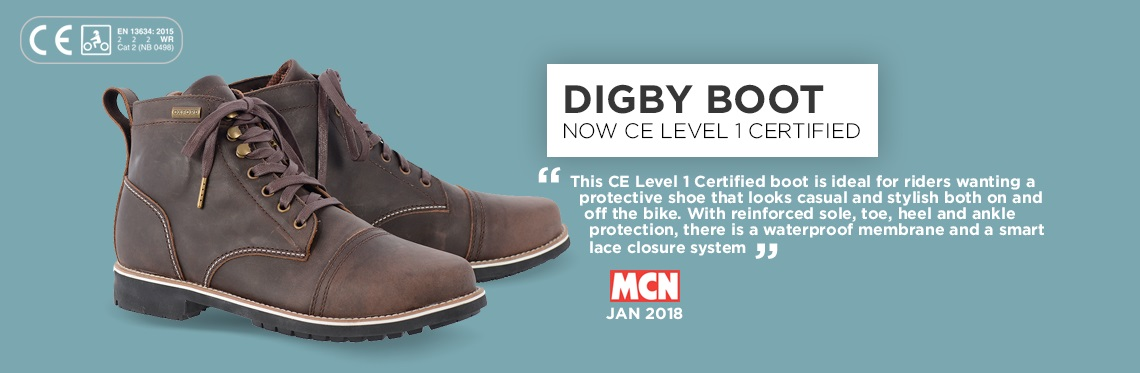 Oxford Digby Motorcycle Boots Web Banner