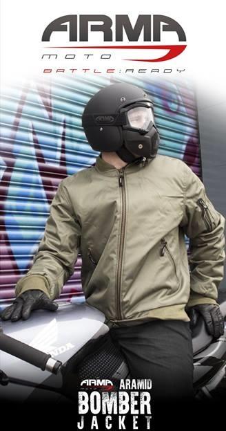 ARMR Moto Aramid Bomber Motorcycle Jacket Banner