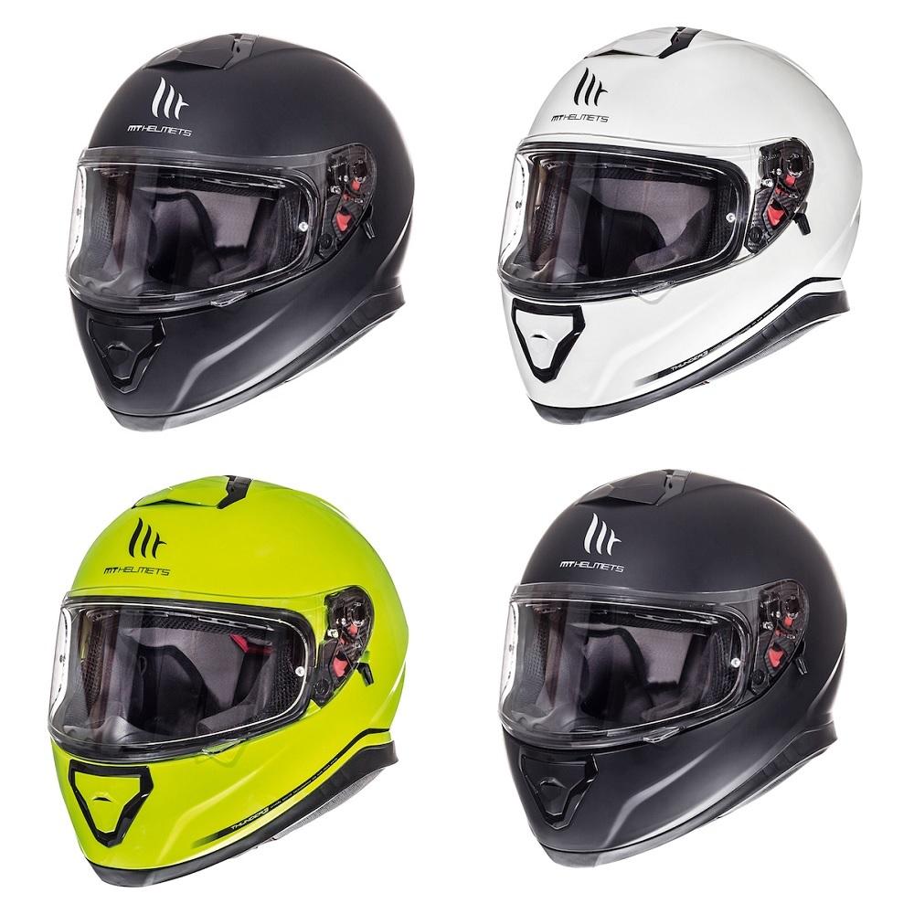 Mt Thunder 3 Plain Helmet Blda Motorbikes