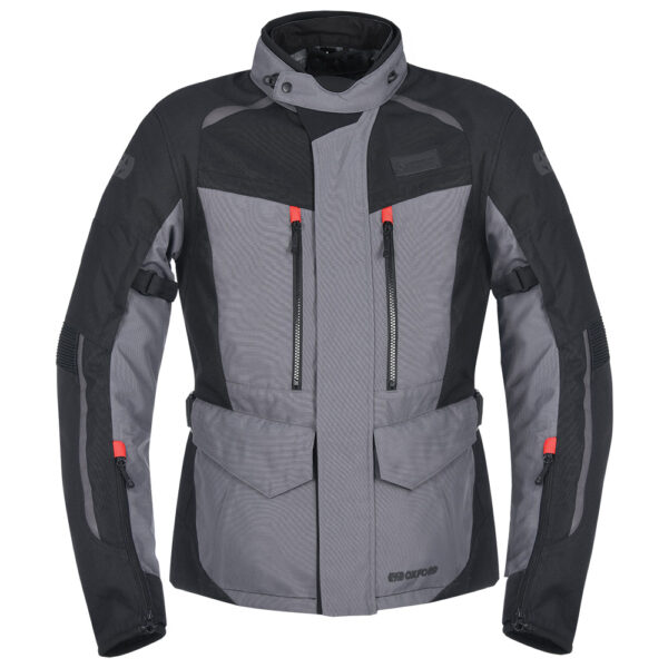 Oxford Continental Motorcycle Jacket Tech Grey 3