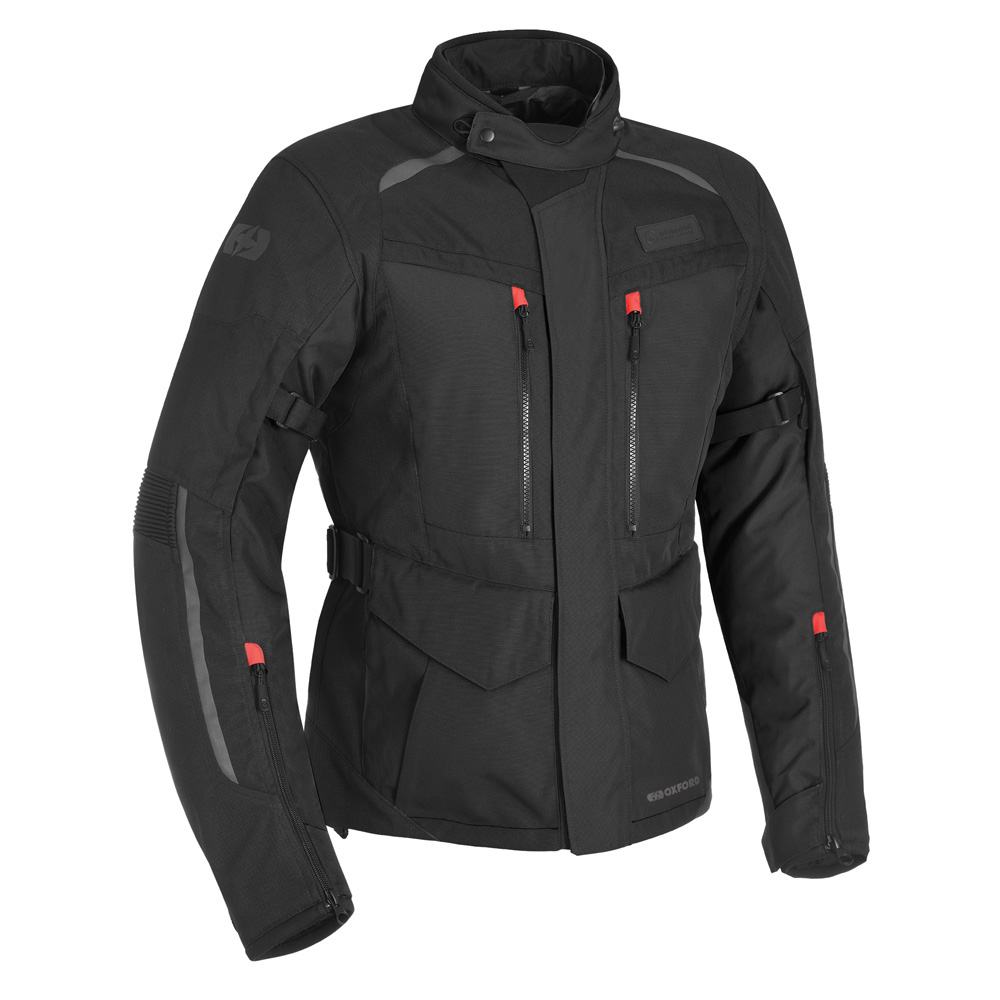 Oxford Continental Tech Black Motorcycle Jacket