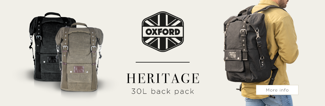 Oxford Heritage Motorcycle Backpack Banner