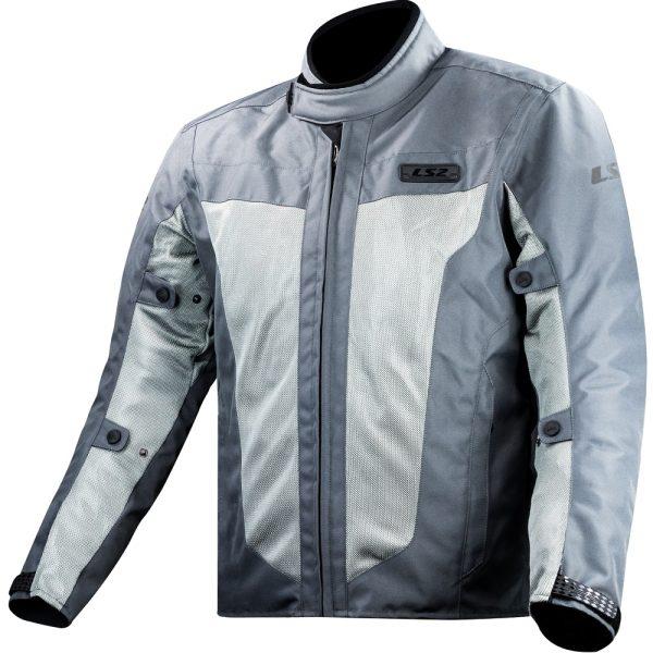 LS2 Predator Mens Grey Motorcycle Jacket