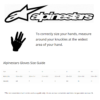 Alpinestars Motorcycle Gloves Size Guide