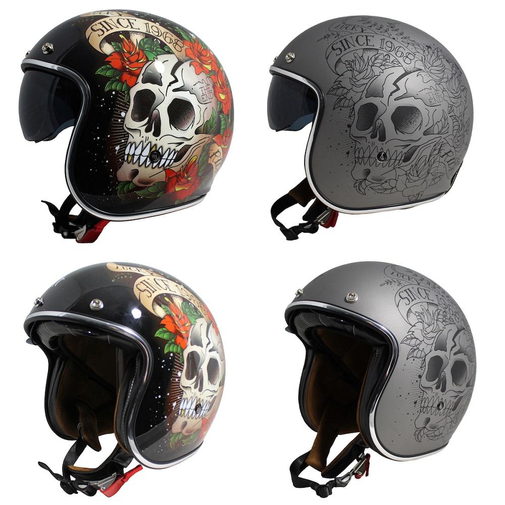 MT Le Mans 2 Skull & Roses Helmet