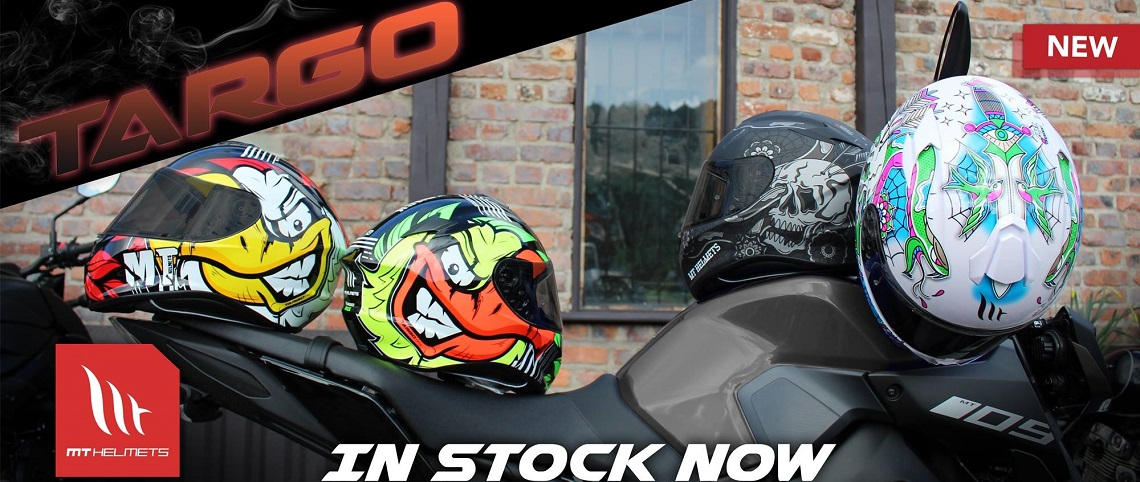 MT Targo Motorcycle Helmet Web Banner
