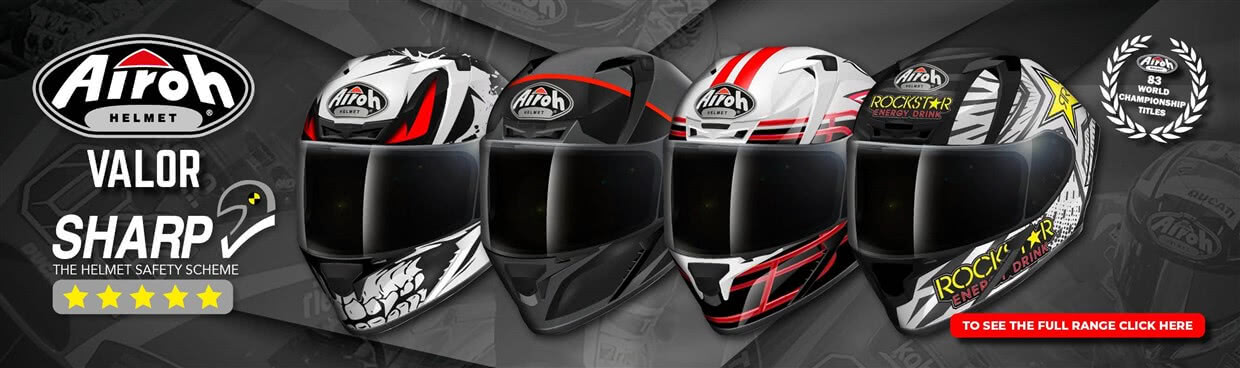 Airoh Valor Full Face Motorcycle Helmet Web Banner