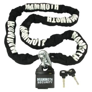 Mammoth Square Lock & Chain 10mm x 1800mm LOCMAM