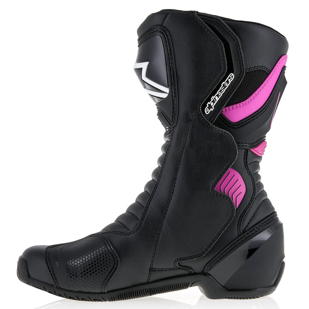 Alpinestars Motorcycle Boots Size 37 Black//Fuchsia