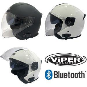 Viper RS-v10 Bluetooth Plain Helmet