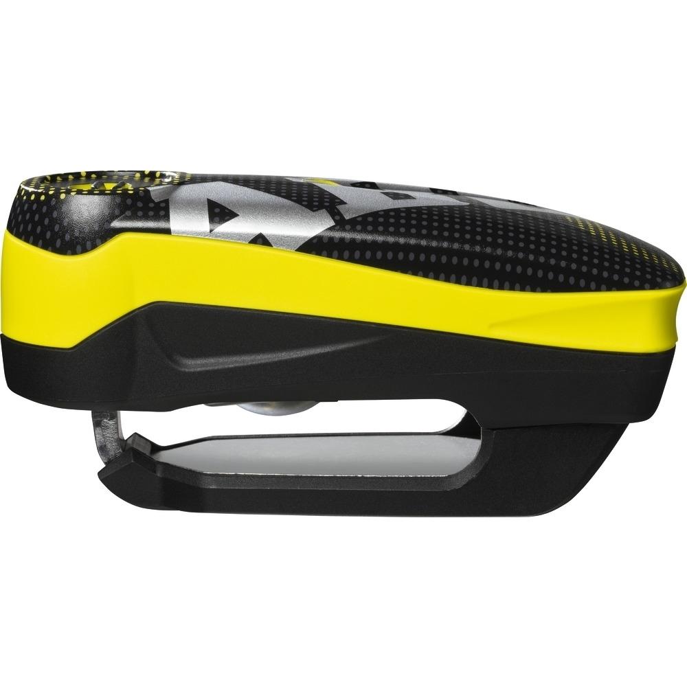 ABUS Detecto 7000 RS1 Pixel Yellow Disc Lock Alarm