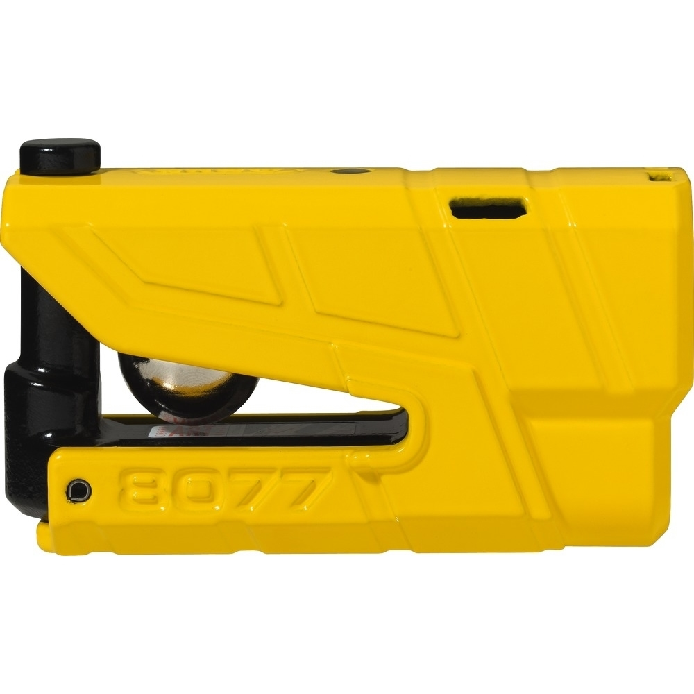ABUS GRANIT Detecto XPlus 8077 Yellow Disc Lock Alarm
