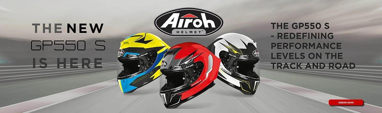 Airoh GP550S Motorcycle Helmet Web Banner