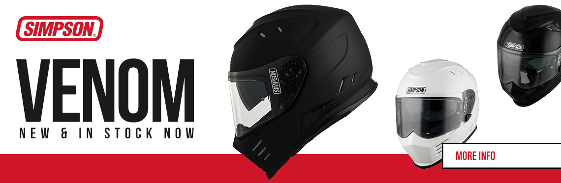 Simpson Venom Motorcycle Helmet Web Banner