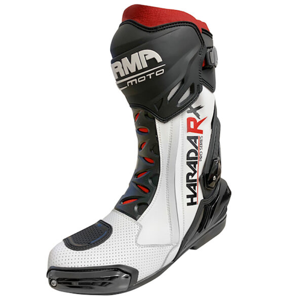 ARMR Moto Harada RX Motorcycle Boots White 1