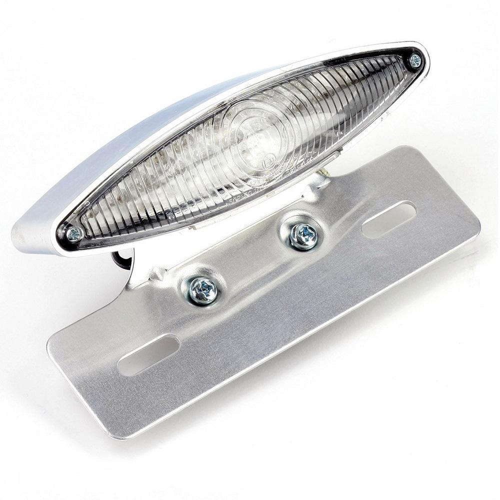 Bike It Invader LED Rear Motorcycle Light Silver RLTLED05