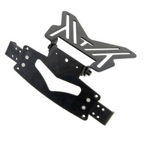 Bike It Universal Number Plate Hanger Bracket With Sliding Indicator Mounts RLTNPT10