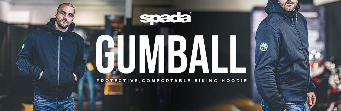 Spada Gumball CE Motorcycle Hoodie Web Banner