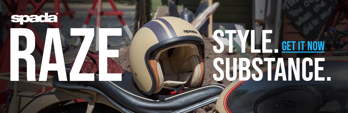 Spada Raze Open Face Motorcycle Helmet Web Banner