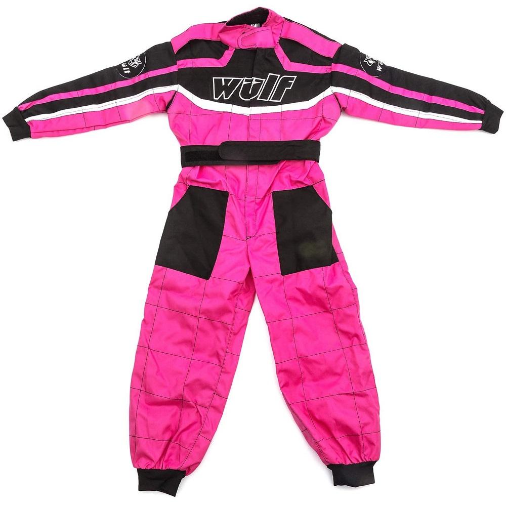 Wulfsport Cub Race Suit Plain Pink